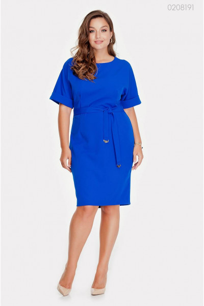 Оригінальне синє плаття plus size