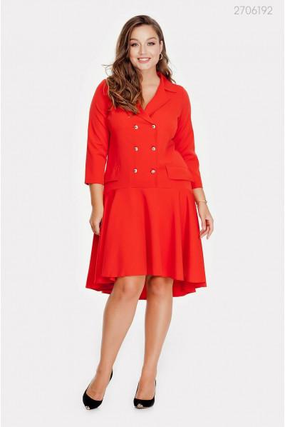 Оригінальне червоне плаття plus size