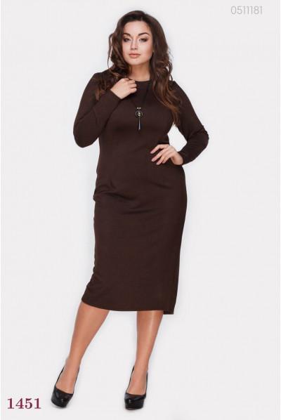 Плаття футляр коричневого кольору
