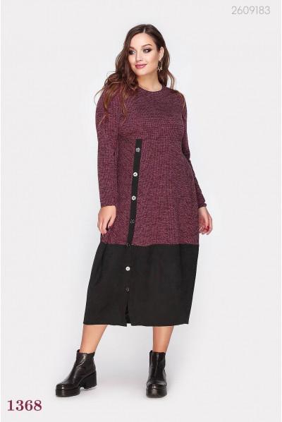 Тепле бордове плаття великого розміру