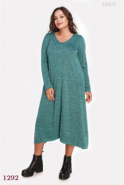 Ізумрудне плаття вільного покрою plus size