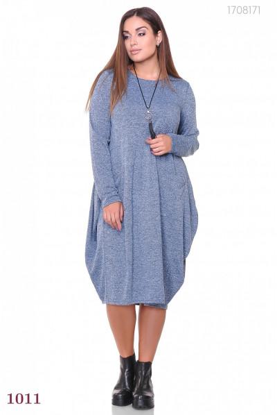 Плаття А-силуету синього кольору