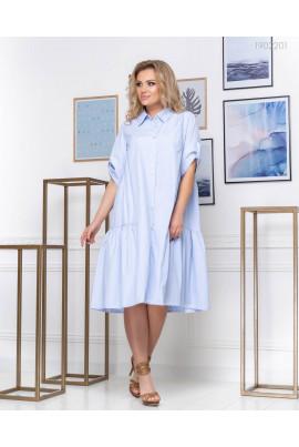 Блакетне плаття-сорочка plus size