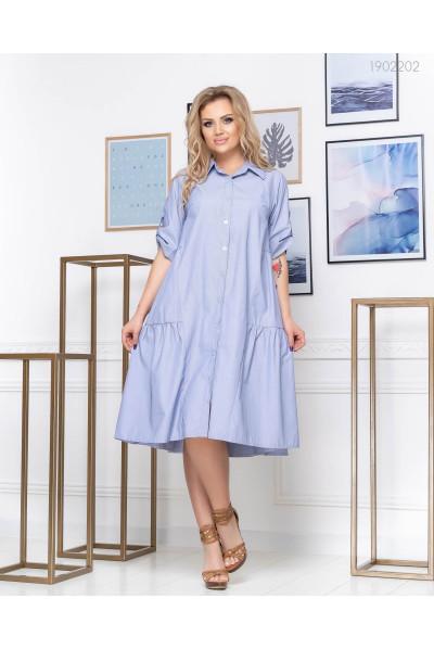 Синє плаття-сорочка