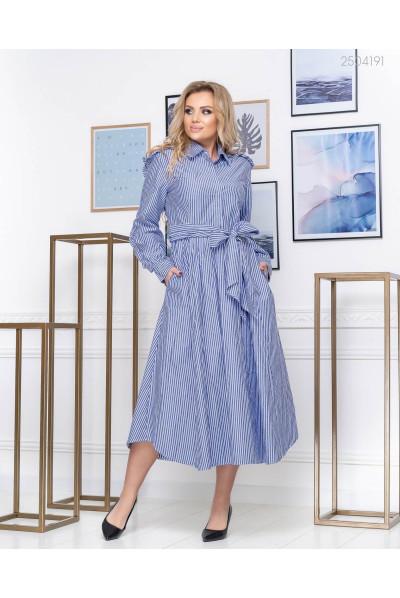 Гарна сукня синього кольору в полосочку