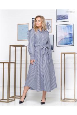 Гарне плаття сірого відтунку plus size