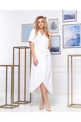 Ефектне біле плаття на запах