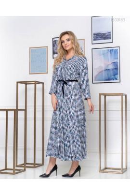 Гарне плаття-максі блакитного кольору