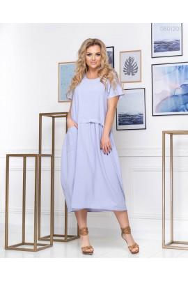 Блакитне плаття А-силуету