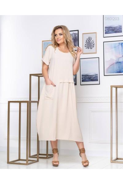 Світле плаття А-силуету pluse size
