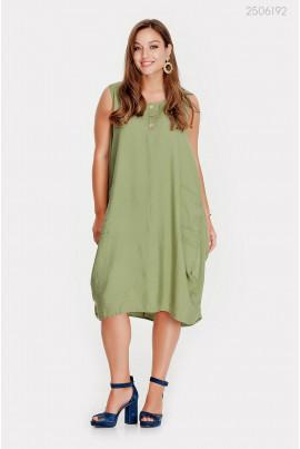Вільне плаття кольору хакі розміру pluse size