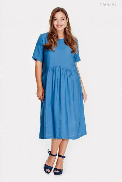 Цікава синя сукня розміру pluse size