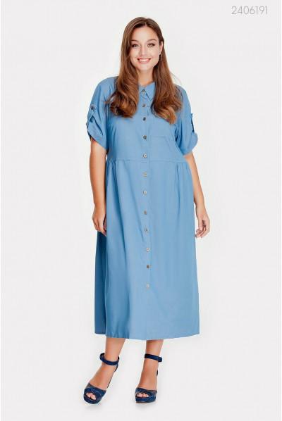 Класна джинсова сукня великого розміру