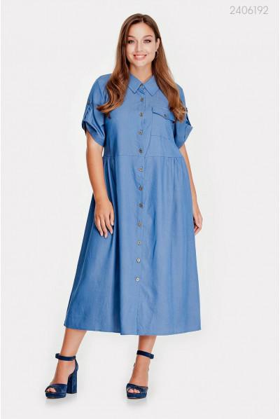 Класне синє джинсове плаття pluse size