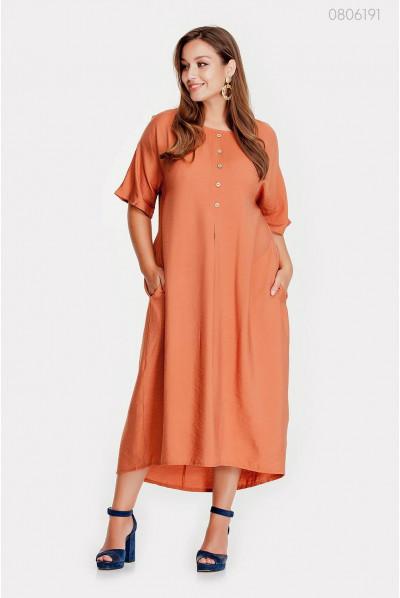Оригінальна сукня персикового кольору