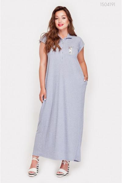 Довге плаття сірого кольору