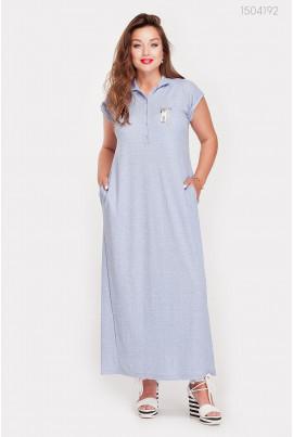 Довге плаття блакитного кольору