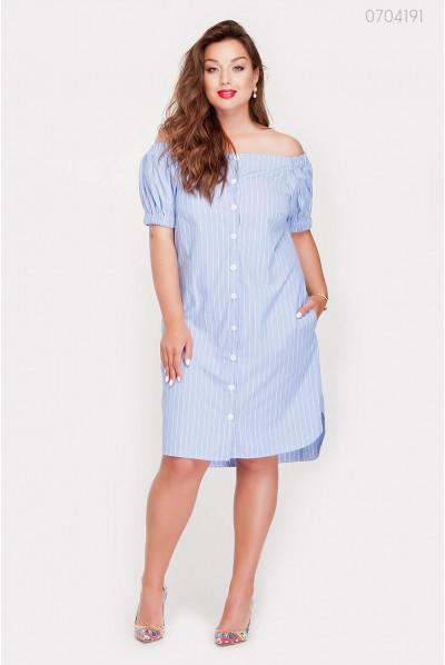 Блакитне плаття з блакитними смужками для літа
