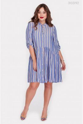Блакитно-біле плаття pluse size