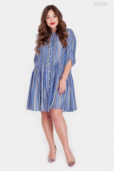 Синьо-біле плаття pluse size