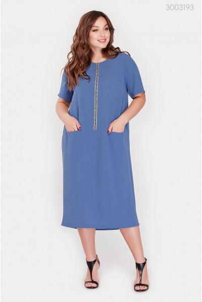 Синє спортивне плаття великого розміру