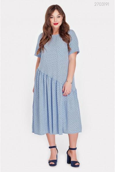Стильне голубе плаття pluse size