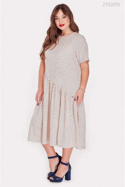 Стильне пудрове плаття pluse size