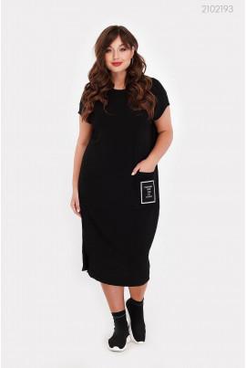 Зручне літнє плаття чорного кольору
