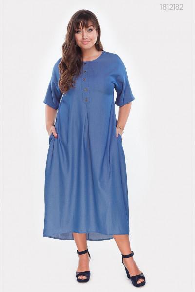 Плаття з джинсу блакитного кольору