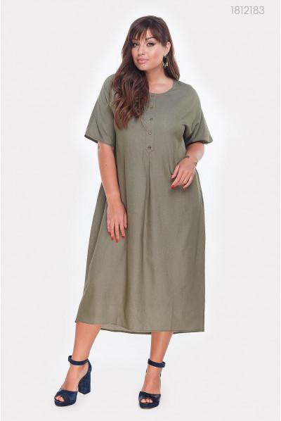 Плаття з джинсу кольору хакі