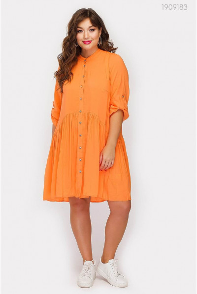 Батальна помаранчева сукня