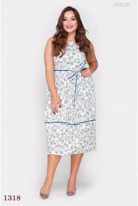 Біле літнє плаття великого розміру