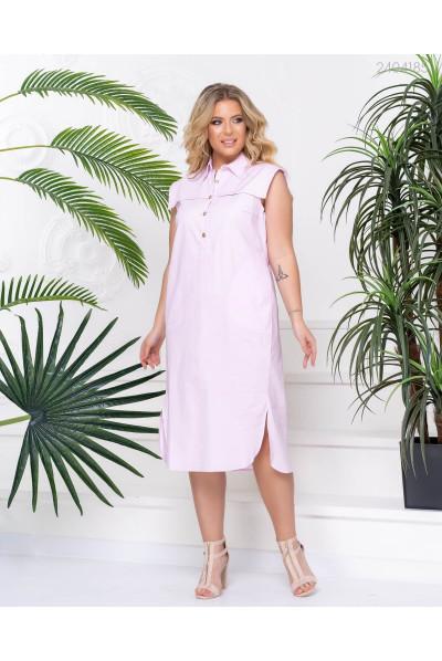Елегантне плаття з котону рожевого кольору