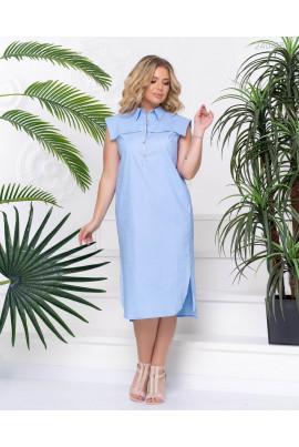 Ніжне блакитне плаття з котону