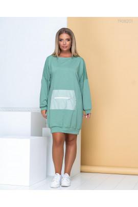 Оливкове коротке спортивне плаття