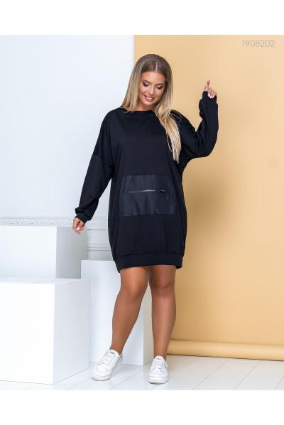 Чорне спортивне плаття для повних жінок