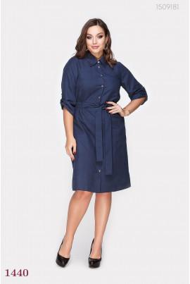 Синє жіночне плаття великих розмірів
