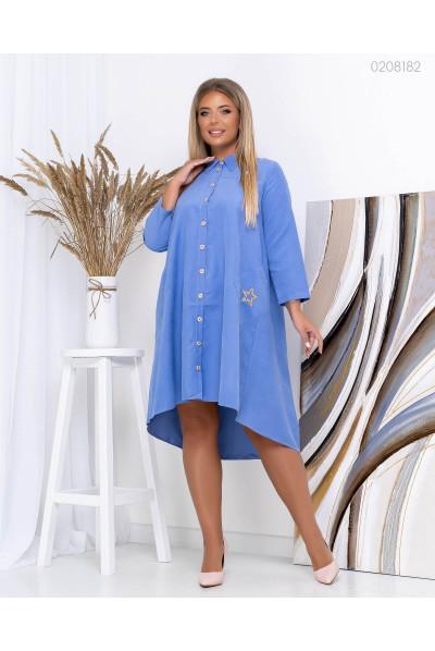 Блакитне вишукане плаття великих розмірів