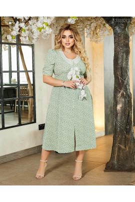 Легке ніжне плаття міді кольору шалфея
