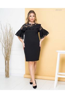 Чорна мегажіночна сукня для жінок з апетитними формами