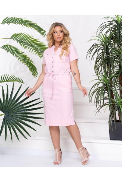 Персикове ніжне повсякденне плаття великих розмірів