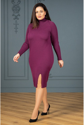 Неймовірно яскрава жіноча сукня винного кольору