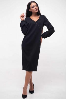 Чорне витончене плаття міді