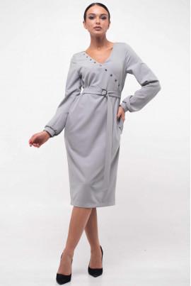 Сіре привабливе плаття міді
