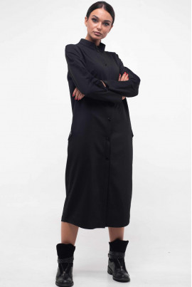 Чорне просторе плаття-рубашка