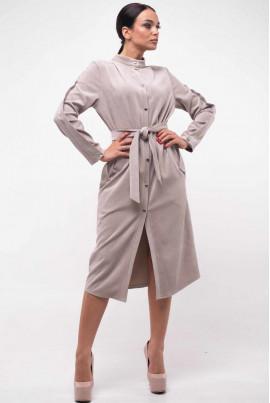 Сіре вельветове плаття-рубашка