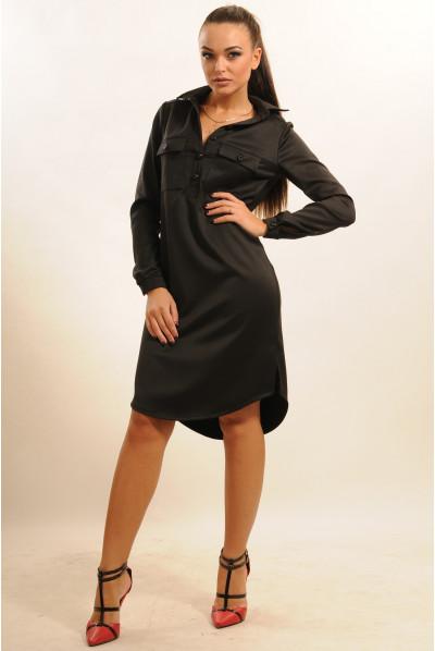 Чорне универсальне плаття-рубашка