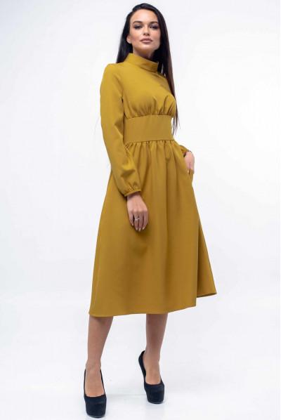 Гірчичне привабливе плаття міді
