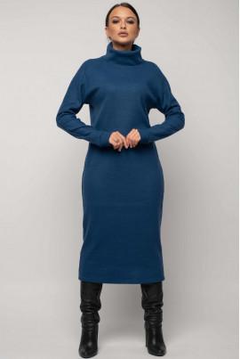Синє жіночне тепле плаття