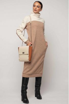 Бежеве тепле оригінальне плаття